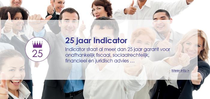 25 jaar Indicator