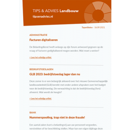 Tips & Advies Landbouw