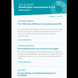 Tips & Advies Belastingtips eenmanszaak & Vof